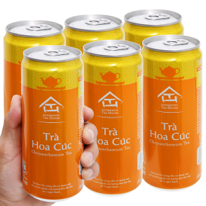 6 lon trà hoa cúc Authentic Tea House 310ml
