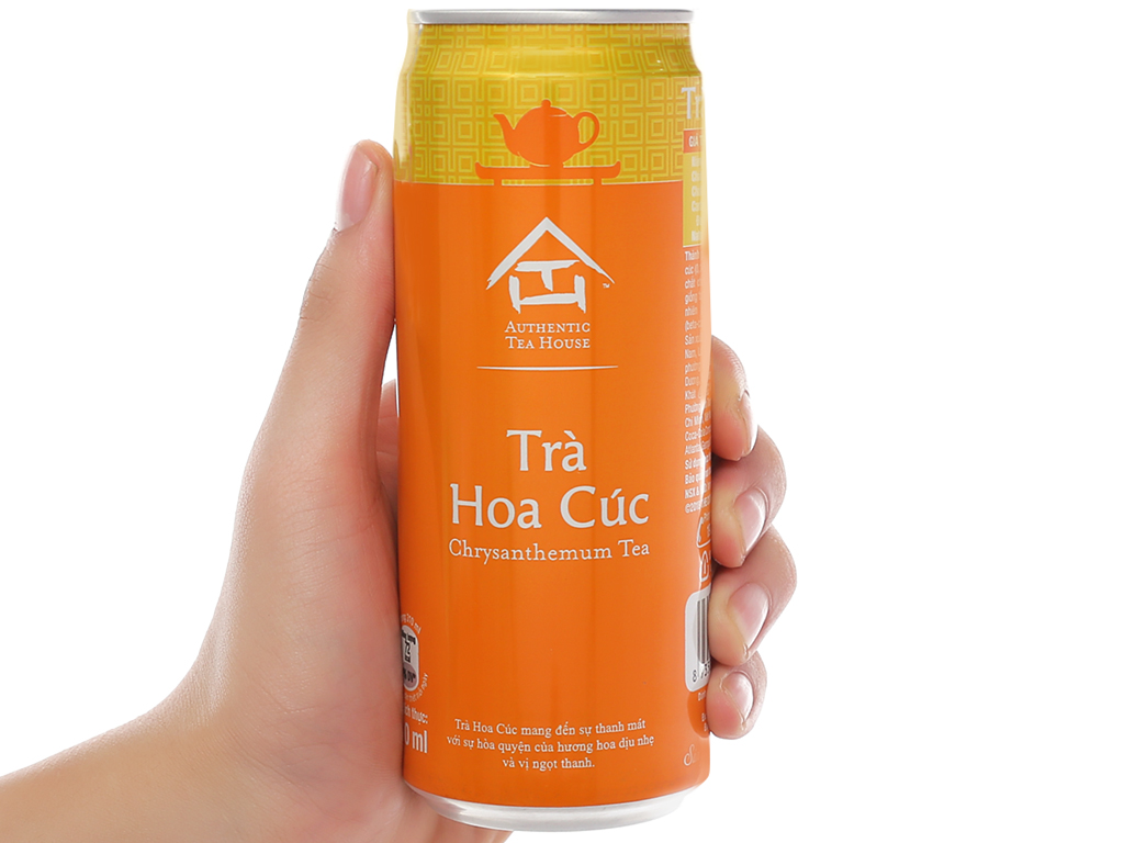 24 lon trà hoa cúc Authentic Tea House 310ml 5