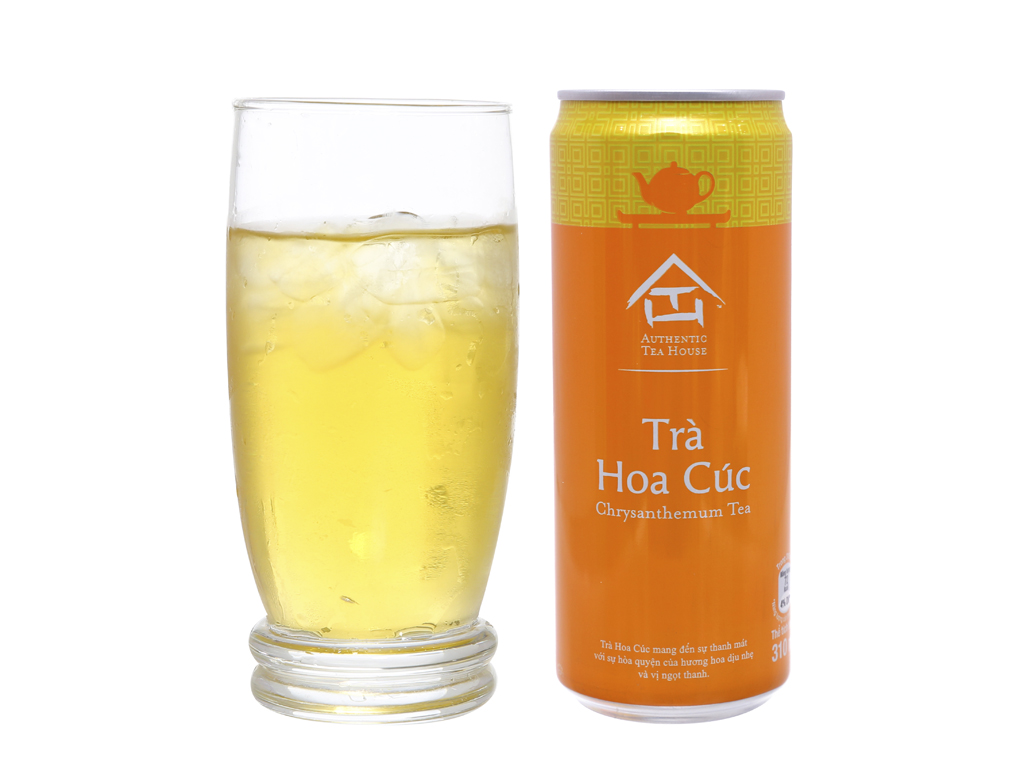 24 lon trà hoa cúc Authentic Tea House 310ml 4
