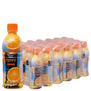 24 chai nước cam có tép Minute Maid Teppy 327ml