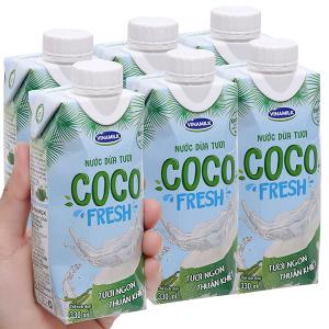 6 hộp nước dừa tươi Vinamilk Coco Fresh 330ml