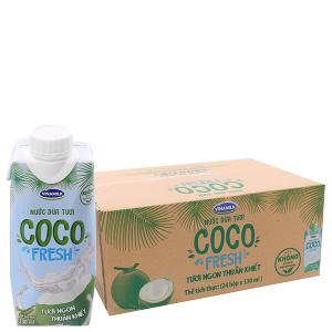 Thùng 24 hộp nước dừa tươi Vinamilk Coco Fresh 330ml