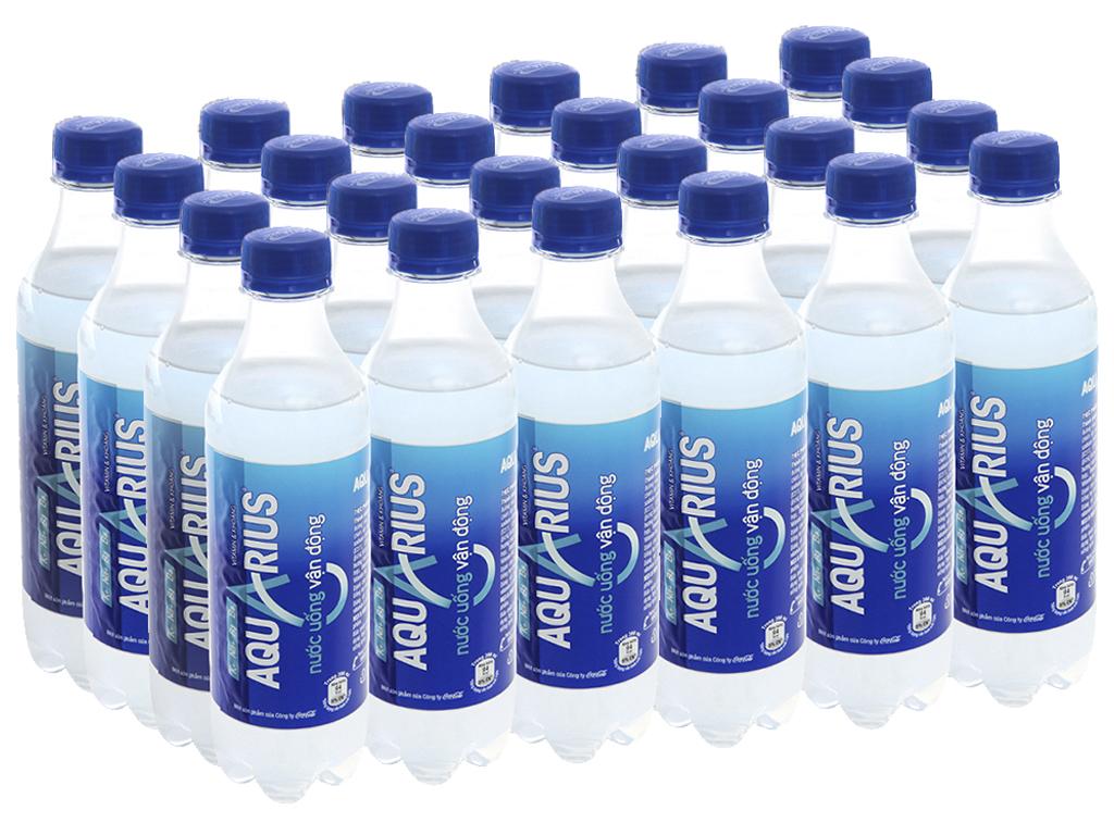 24 chai nước uống vận động Aquarius 390ml 1