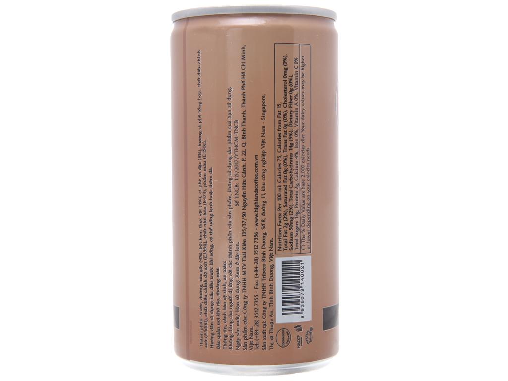 Thùng 24 lon cà phê sữa Highlands 185ml 2