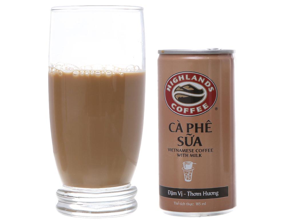 Thùng 24 lon cà phê sữa Highlands 185ml 3