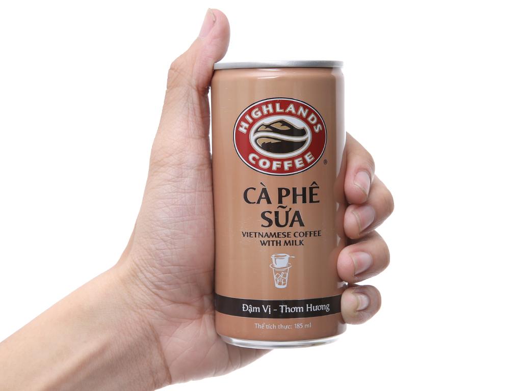 Thùng 24 lon cà phê sữa Highlands 185ml 4