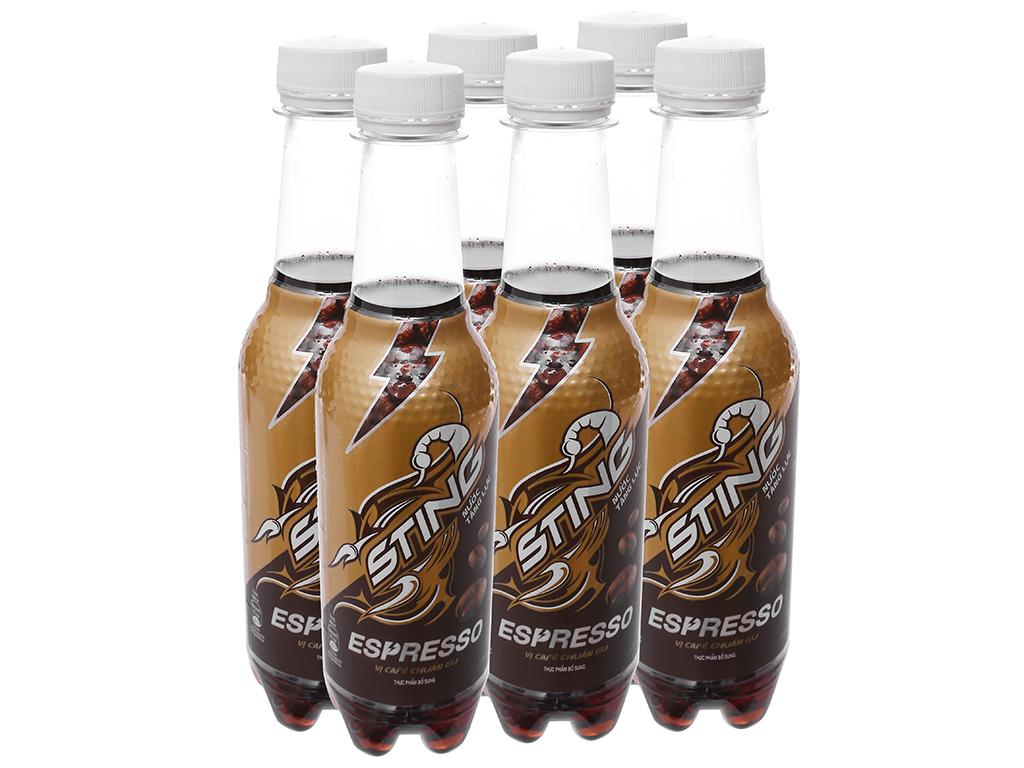 6 chai nước tăng lực Sting Espresso cà phê 330ml 1