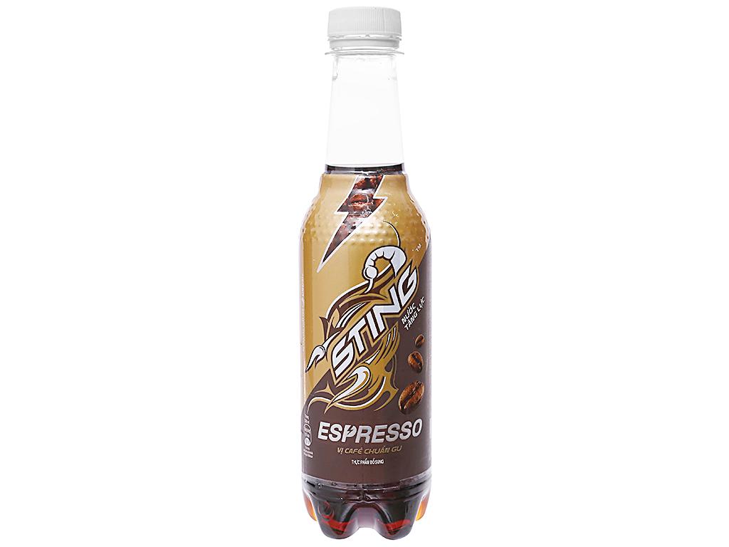 Thùng 24 chai nước tăng lực Sting Espresso cà phê 330ml 2