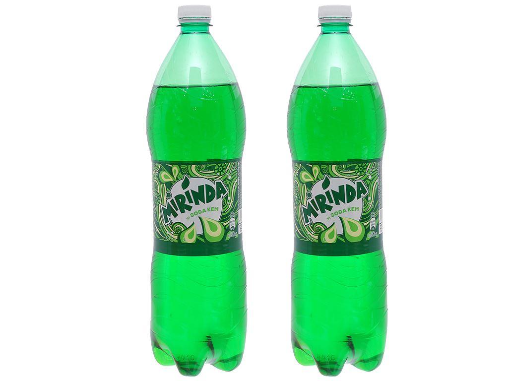 Combo 2 chai nước ngọt Mirinda vị soda kem 1.5 lít 1