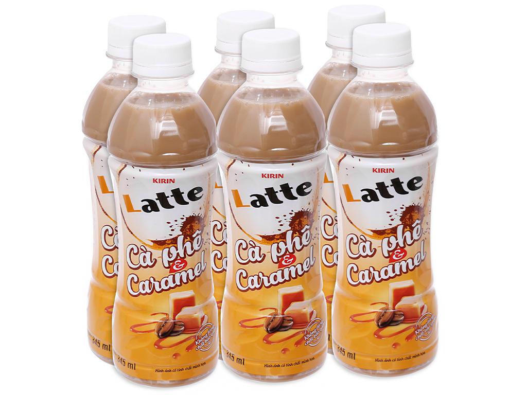 6 chai thức uống thiên nhiên pha sữa Kirin Latte cà phê & caramel 345ml 1