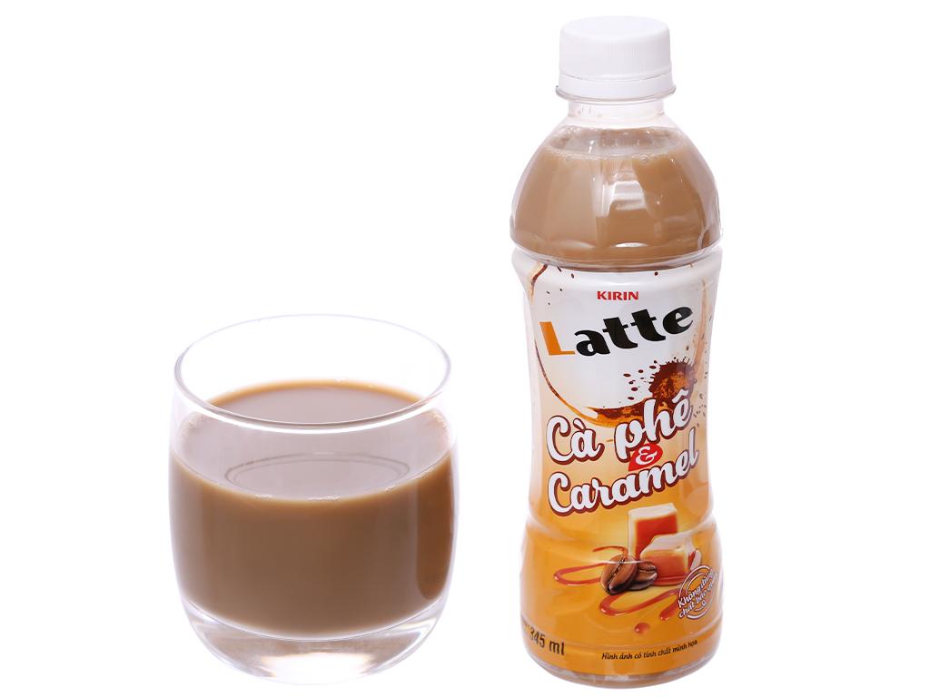 6 chai thức uống thiên nhiên pha sữa Kirin Latte cà phê & caramel 345ml 6