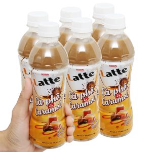 6 chai thức uống thiên nhiên pha sữa Kirin Latte cà phê & caramel 345ml