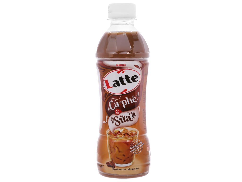 Thùng 24 chai thức uống thiên nhiên pha sữa Kirin Latte cà phê & sữa 345ml 2
