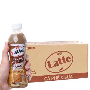 Thùng 24 chai thức uống thiên nhiên pha sữa Kirin Latte cà phê & sữa 345ml