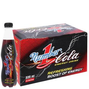 Thùng 24 chai nước tăng lực Number1 Cola 330ml