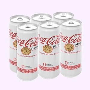 6 lon nước ngọt Coca Cola Plus 320ml