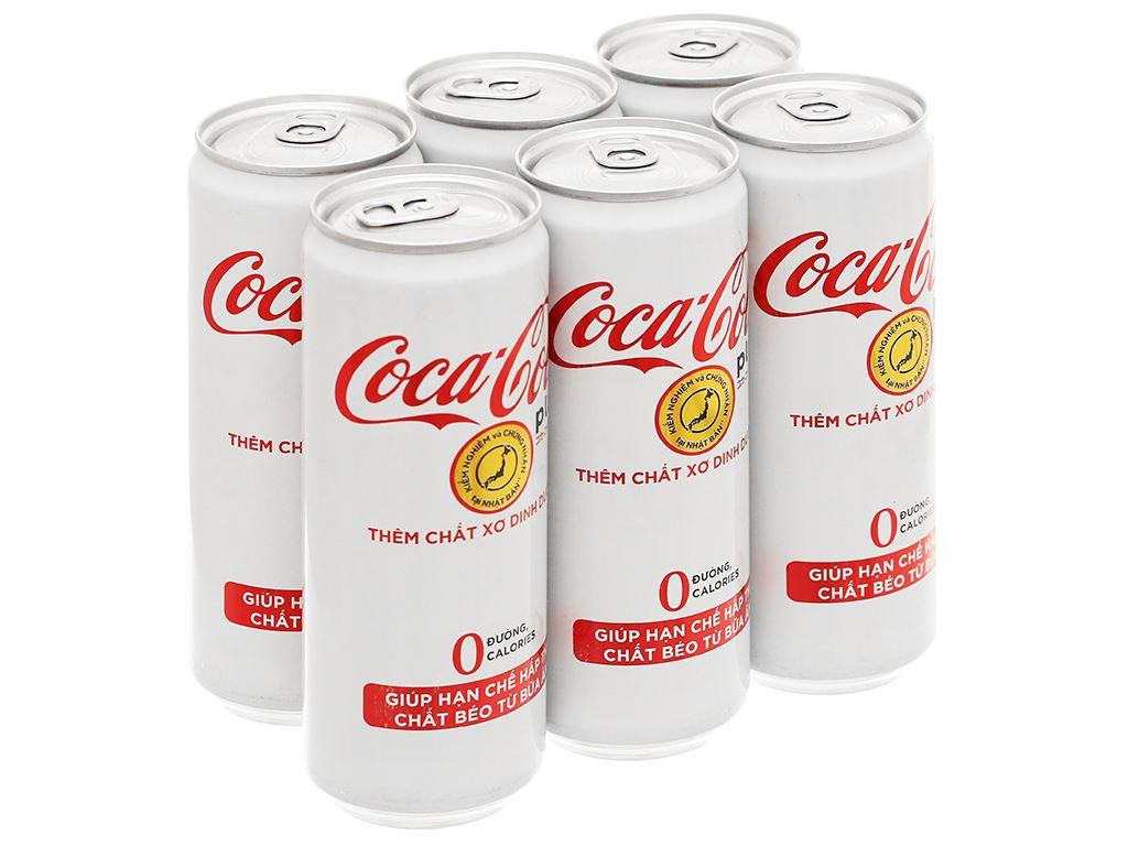 6 lon nước ngọt Coca Cola Plus 320ml 1