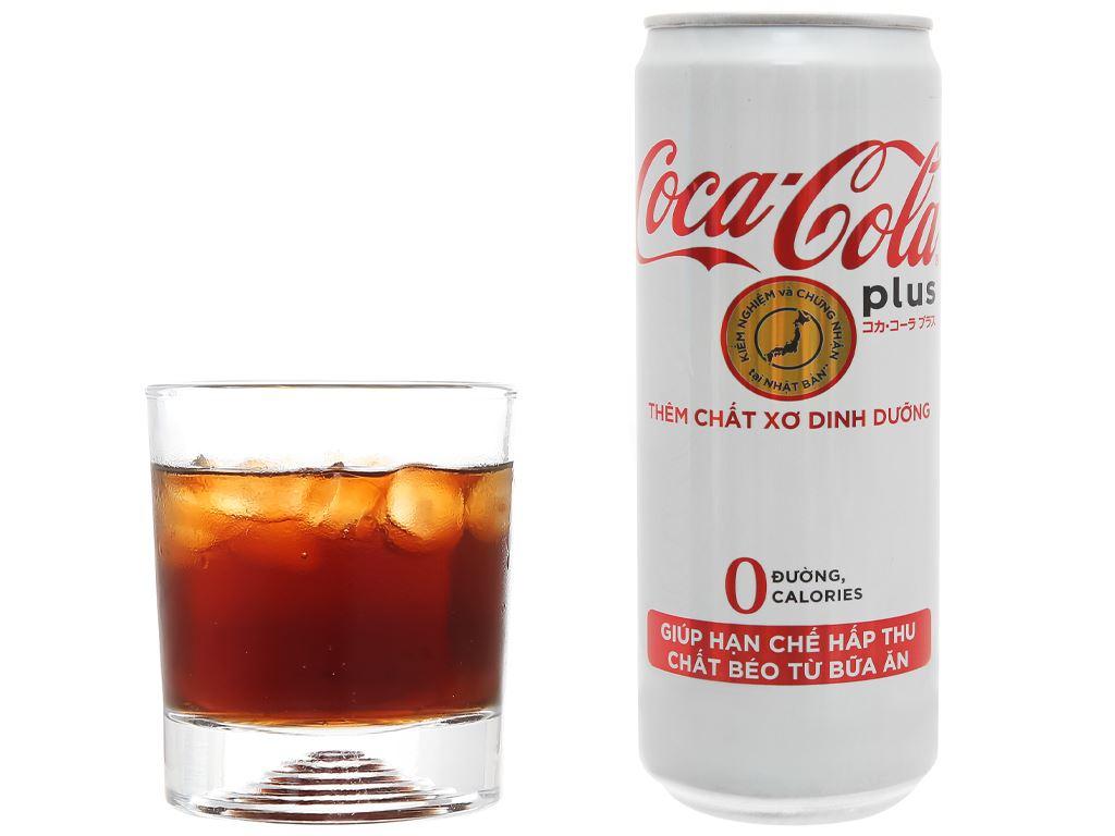 6 lon nước ngọt Coca Cola Plus 320ml 6