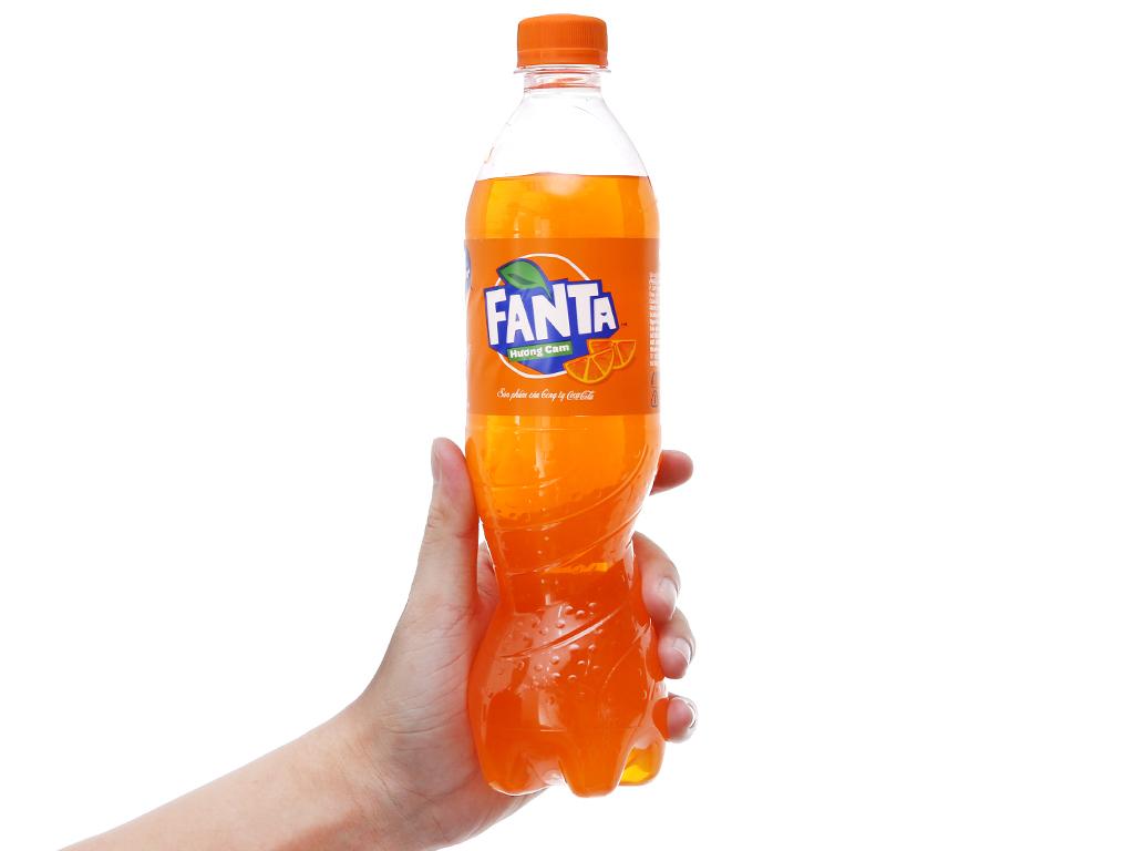 6 chai nước ngọt Fanta vị cam 600ml 5
