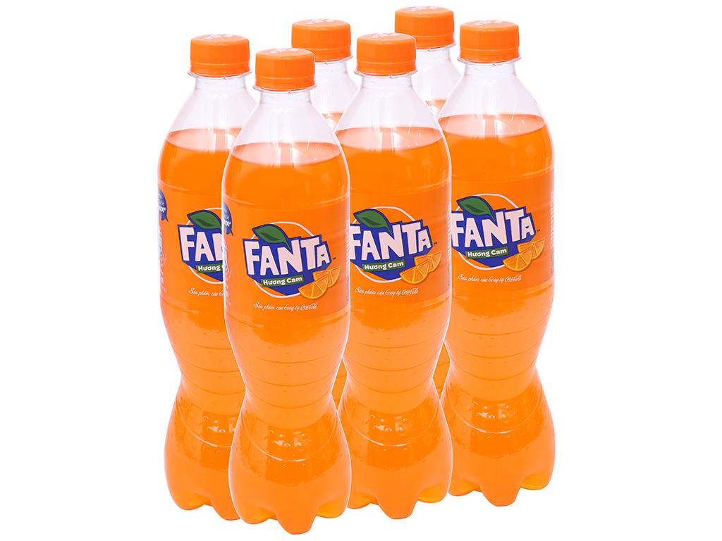 6 chai nước ngọt Fanta vị cam 600ml 1