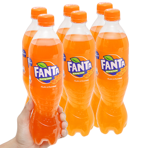 6 chai nước ngọt Fanta vị cam 600ml