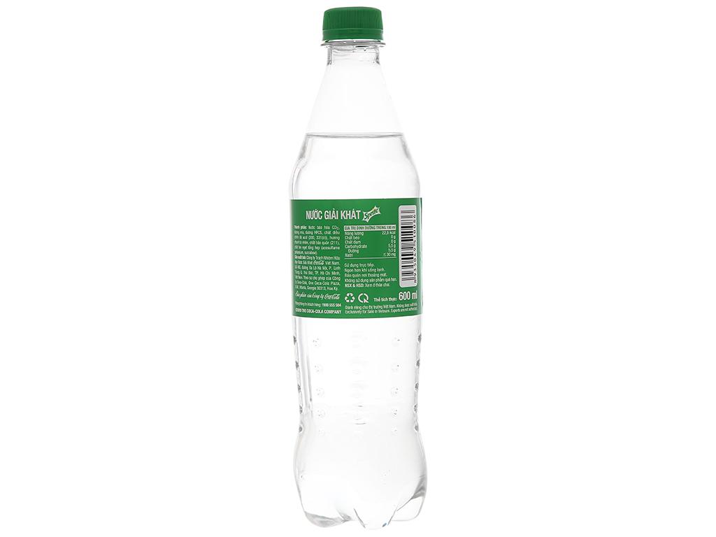 6 chai nước ngọt Sprite hương chanh 600ml 3