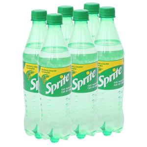6 chai nước ngọt Sprite vị chanh 600ml