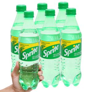 6 chai nước ngọt Sprite hương chanh 600ml