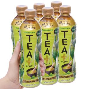 6 chai trà xanh matcha Tea Plus 455ml