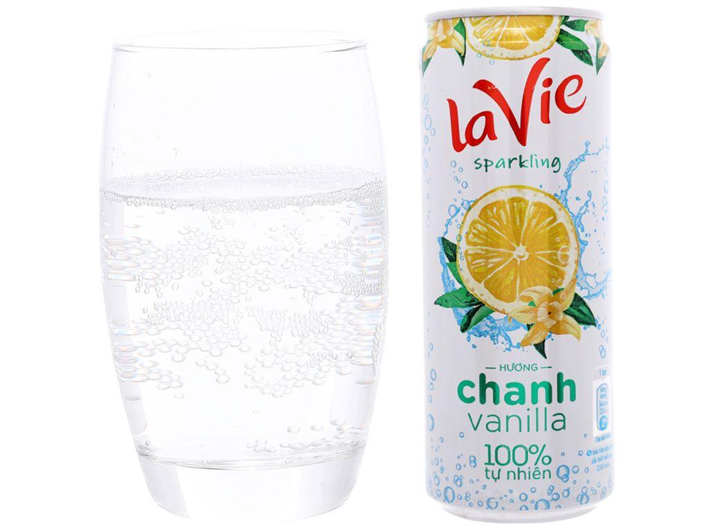 Nước giải khát có gas La Vie Sparkling hương chanh vanilla 330ml 4