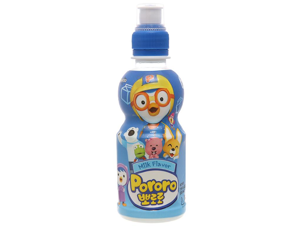 6 chai nước trái cây Pororo vị sữa 235ml 2