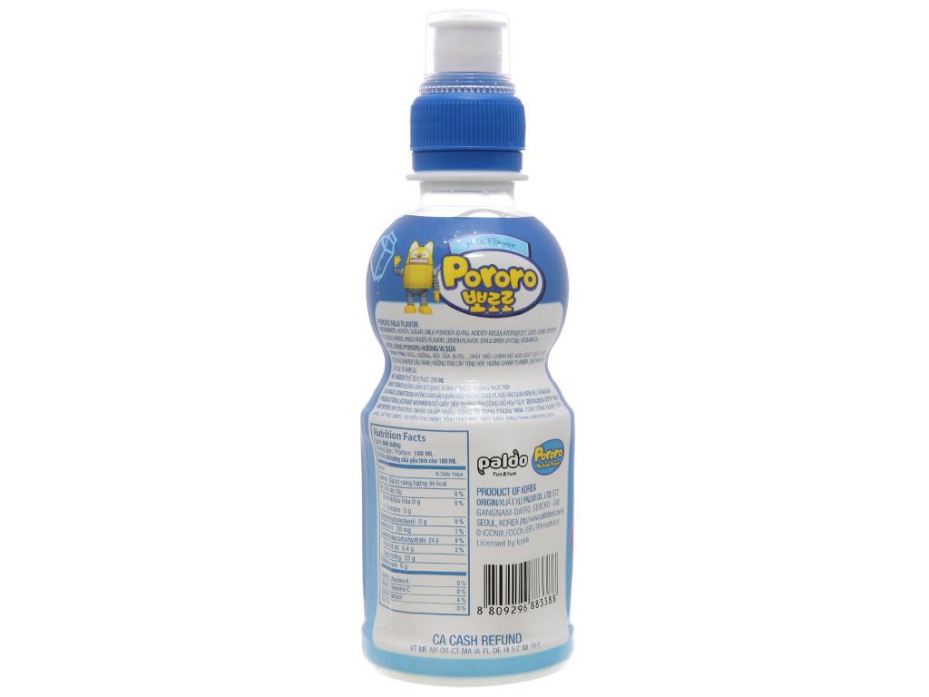 6 chai nước trái cây Pororo vị sữa 235ml 3