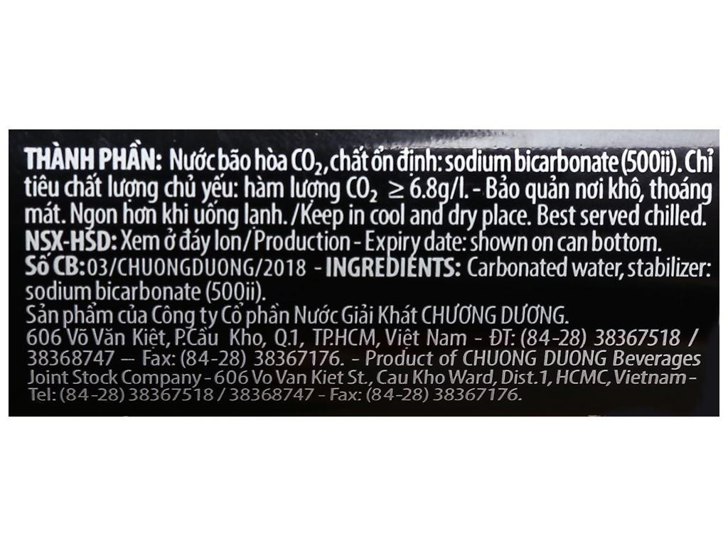 24 lon soda Chương Dương 330ml 7