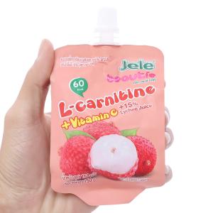 Nước ép trái cây thạch Jele L-carnitine vị vải 150g