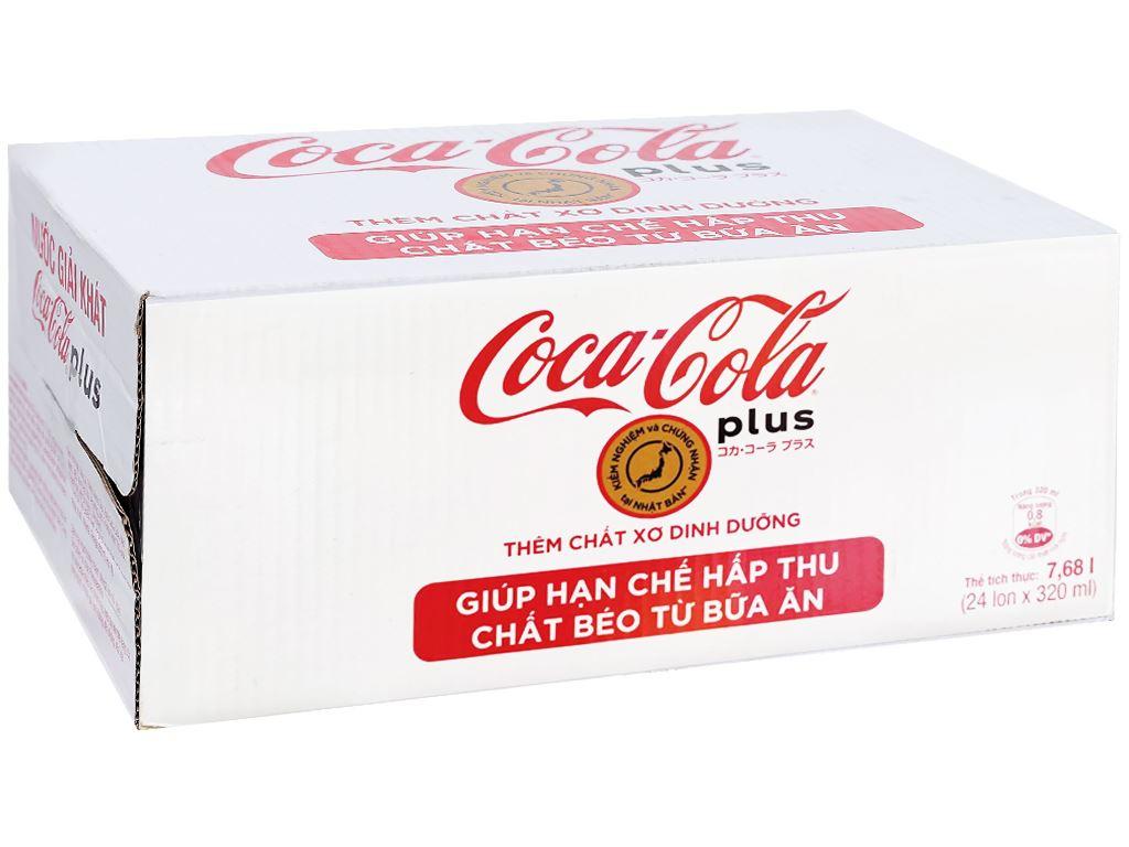 Thùng 24 lon nước ngọt Coca Cola Plus 320ml 1