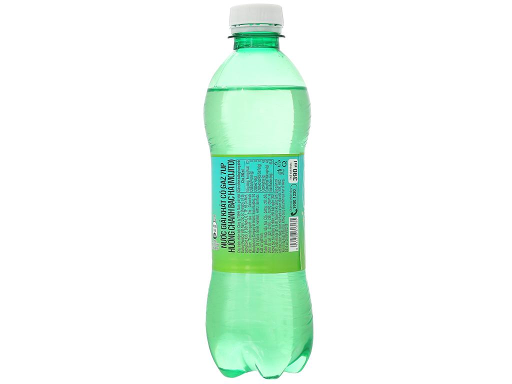6 chai nước giải khát 7 Up Mojito hương chanh bạc hà 390ml 3