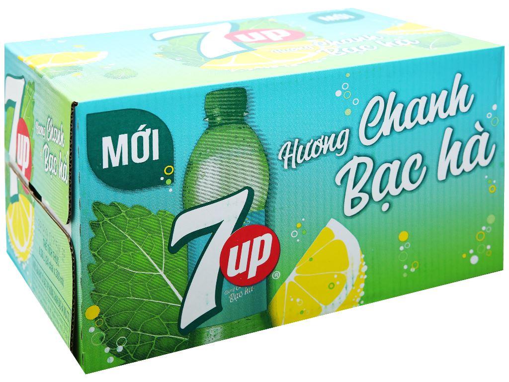 Thùng 24 chai nước giải khát 7 Up Mojito hương chanh bạc hà 390ml 1