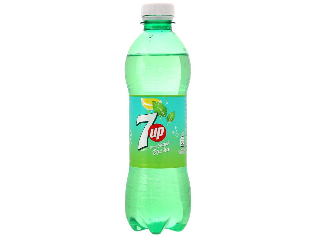 Thùng 24 chai nước giải khát 7 Up Mojito hương chanh bạc hà 390ml 2