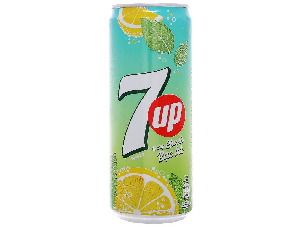 6 lon nước giải khát 7 Up Mojito hương chanh bạc hà 330ml 2