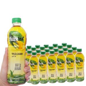 Thùng 24 chai trà chanh với sả Fuze Tea+ 450ml