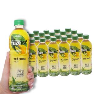 Thùng 24 chai trà chanh với sả Fuze Tea 450ml