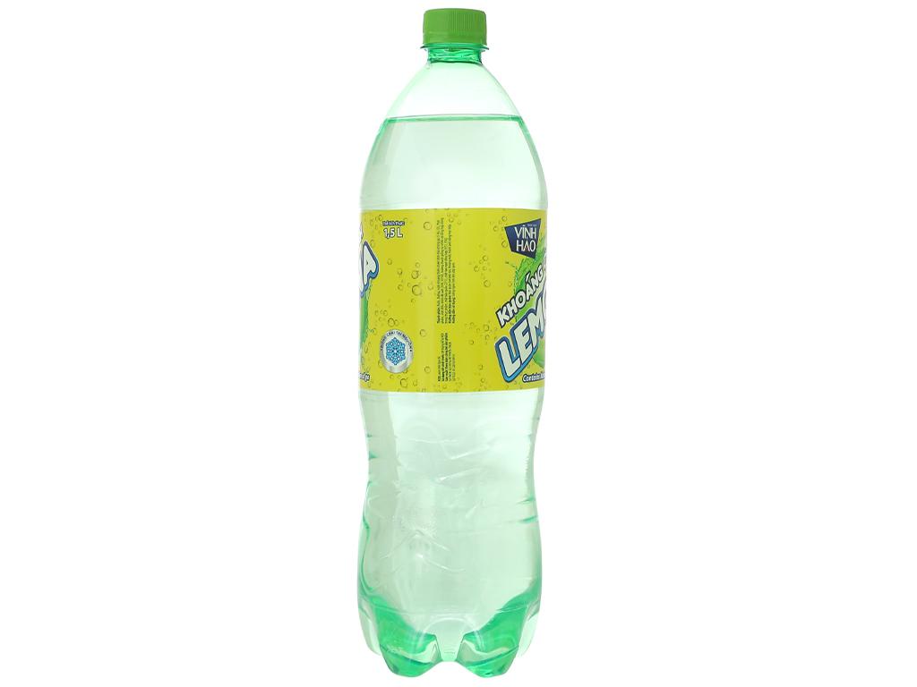 6 chai nước khoáng có ga Vĩnh Hảo Lemona vị chanh 1.5 lít 3