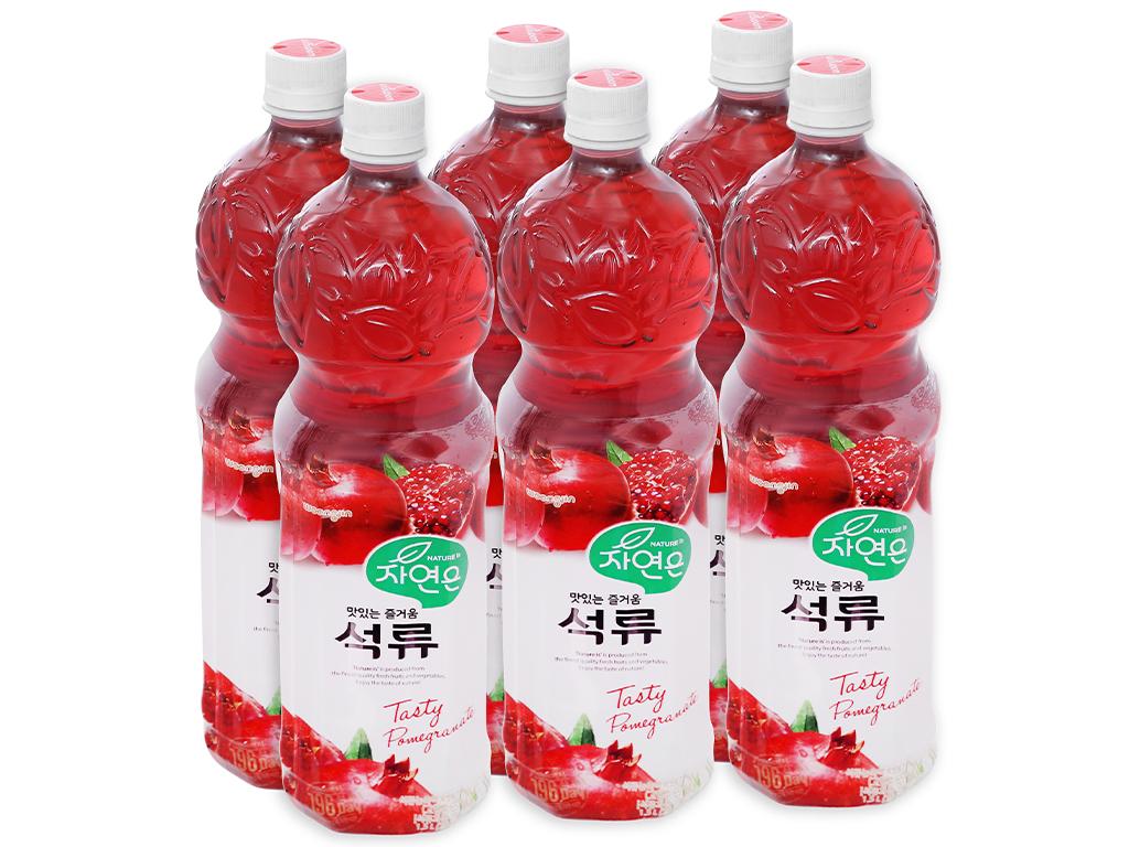 6 chai nước ép Woongjin lựu 1.5 lít 1