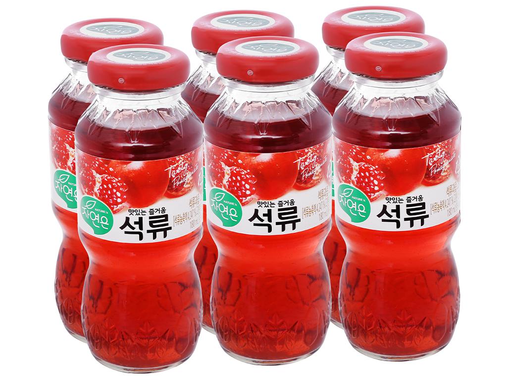 6 chai nước ép Woongjin lựu 180ml 1