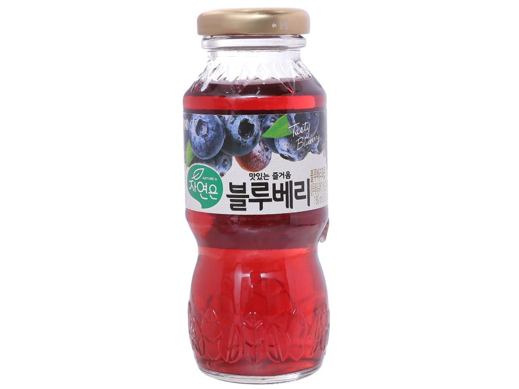 6 chai nước ép Woongjin việt quất 180ml 2