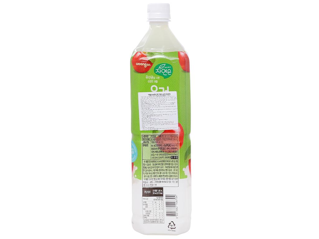 Nước ép lợi khuẩn Woongjin vị táo 1.5 lít 2