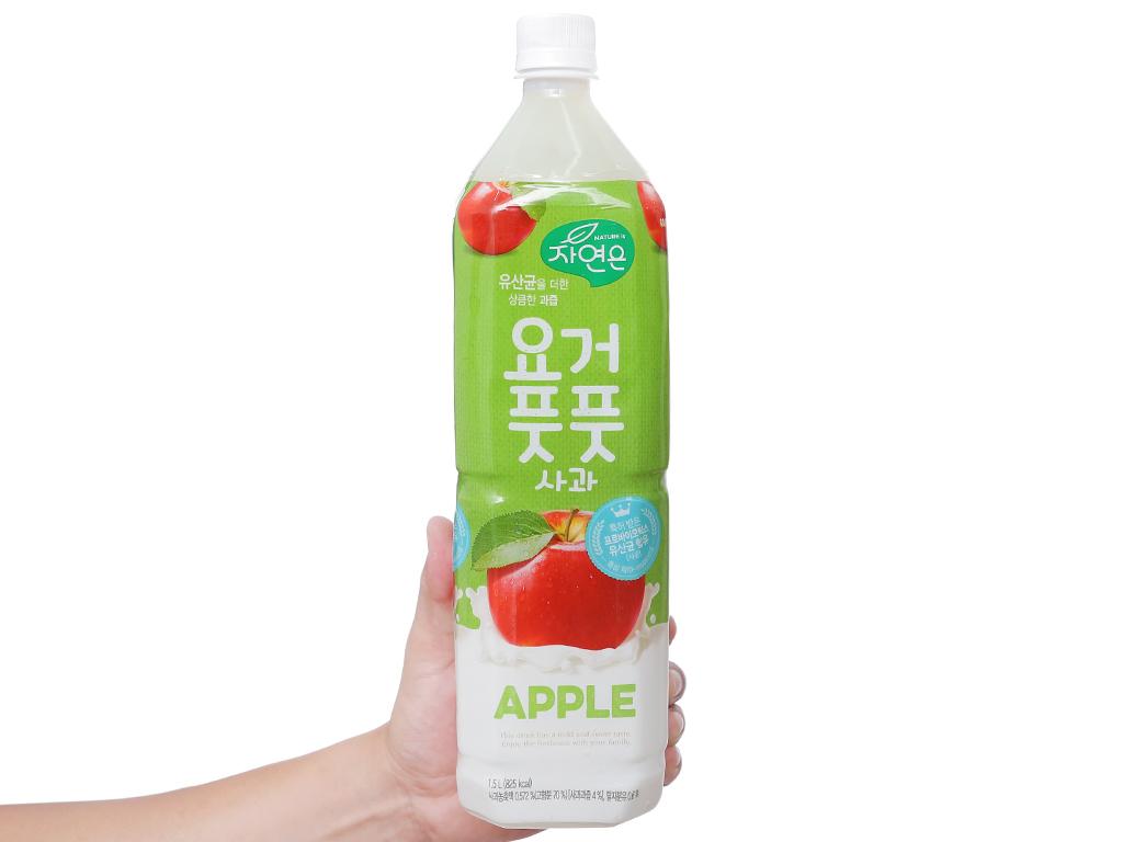 Nước ép lợi khuẩn Woongjin vị táo 1.5 lít 3