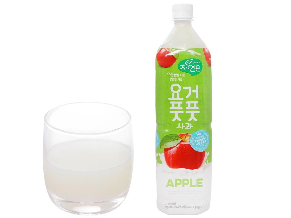 Nước ép lợi khuẩn Woongjin vị táo 1.5 lít 4