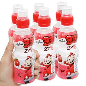 6 chai nước uống tổng hợp Kokomong vị dâu tây 200ml