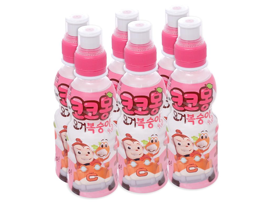 6 chai nước uống tổng hợp Kokomong vị đào 200ml 1
